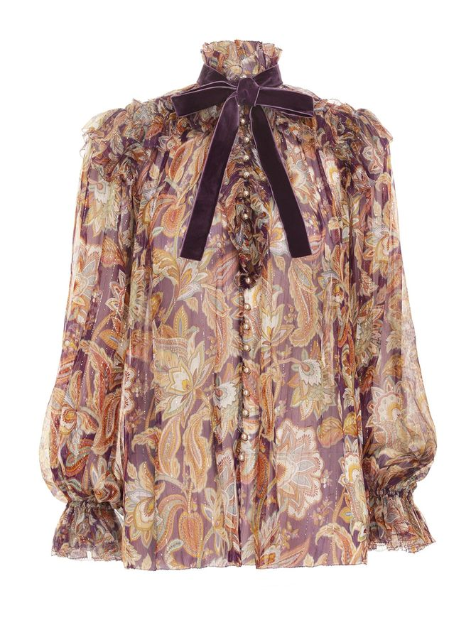 CAMISA-LADYBEETLE-RUFFLED-LUREX-TOP-PURPLE-JACOBEAN