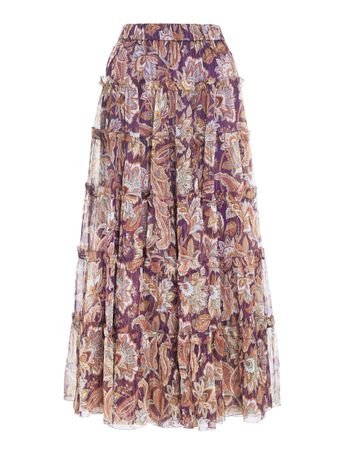 SAIA-LONGA-LADYBEETLE-LUREX-SKIRT-PURPLE-JACOBEAN