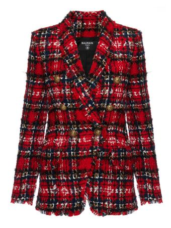 BLAZER-OVERSIZED-6-BTN-TARTAN-TWEED-JACK-ROUGE-MULTICO