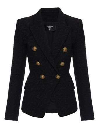 BLAZER-6-BTN-TWEED-JACKET-0PA-BLACK