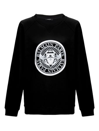 SUETER-FLOCKED-COIN-SWEATSHIRT-EAB-BLACK-WHITE