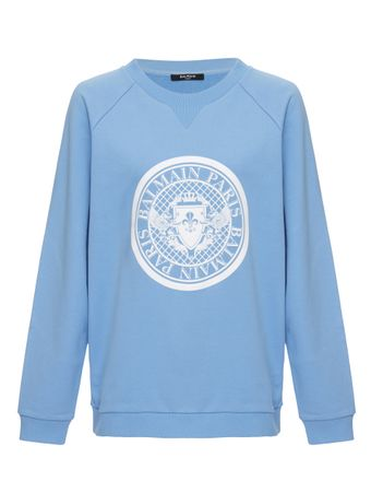 SUETER-FLOCKED-COIN-SWEATSHIRT-ICEBLUE-WHITE