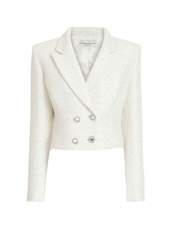 BLAZER-SEQUIN-TWEED-DOUBLE BREASTED-JACK-WHITE-WHITE