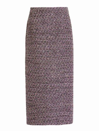 SAIA-LONGA-SEQUIN-TWEED-MID-SKIRT-PINK-BLACK