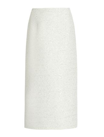 SAIA-LONGA-SEQUIN-TWEED-MID-SKIRT-WHITE-WHITE