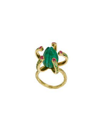 Anel-Protea-de-Ouro-com-Malaquita