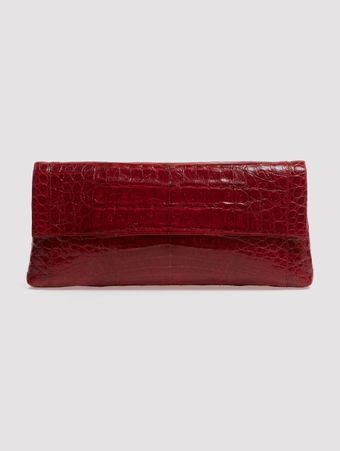 CLUTCH-COURO-CROCODILO-BORDEAUX