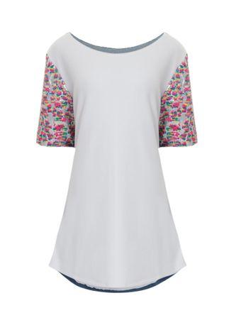 Vestido-T-Shirt-Jeans-Moletom-Manga-Paete-Branco