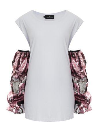 Vestido-Meia-Malha-Manga-De-Paete-Branco