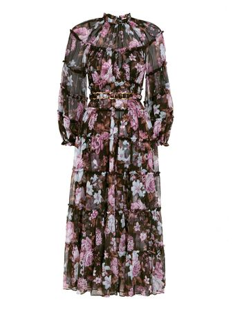 VESTIDO-LONGO-CHARM-TIERED-MIDI-DRESS-BLACK-FLORAL