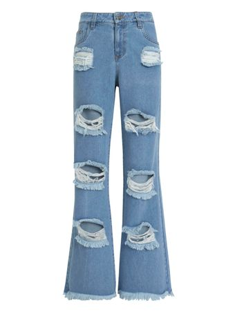 Calca-Jeans-Oversized-Destroyed-Azul
