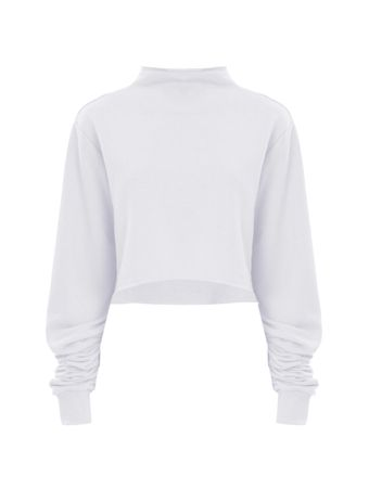 Cropped-Moletom-Branco