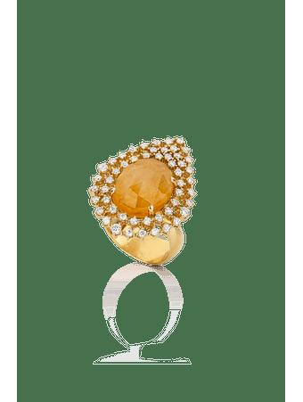 Anel-em-ouro-amarelo-com-diamantes-e-safira-amarela-Ouro