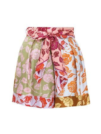 SHORTS-THE-LOVESTRUCK-SPLICED-SHORT-MIXED-ROSES
