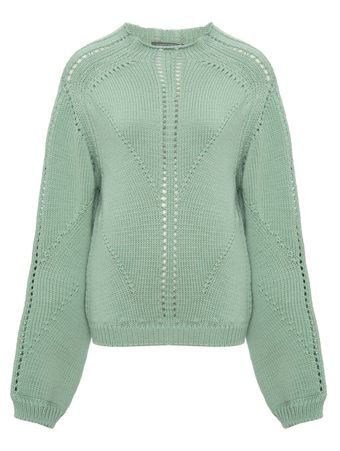SUETER--SWEATER-GREEN