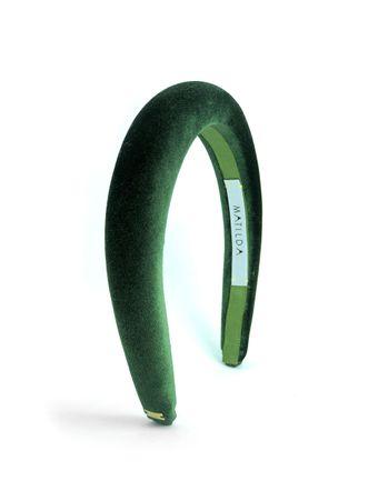 Tiara-Acolchoada-Popping-Verde-Musgo