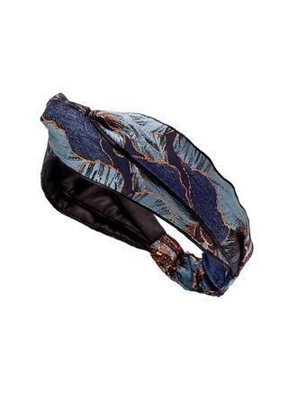 Turbante-Faixa-Let-s-Love-Jacquard-Azul