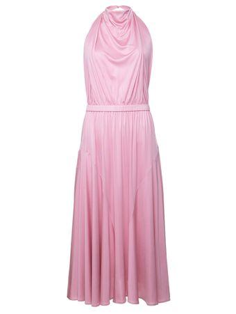 Vestido-de-Seda-Rosa