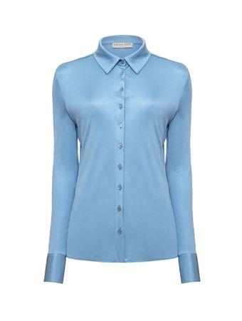 Camisa-de-Seda-Azul
