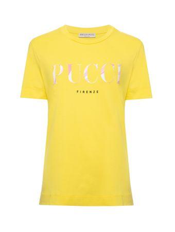 Camiseta-Manga-Curta-Amarela