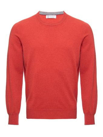 SUETER-CASHMERE-SWEATER-CORAL--GREY