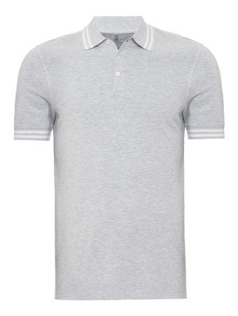 Camisa-Polo-Cinza