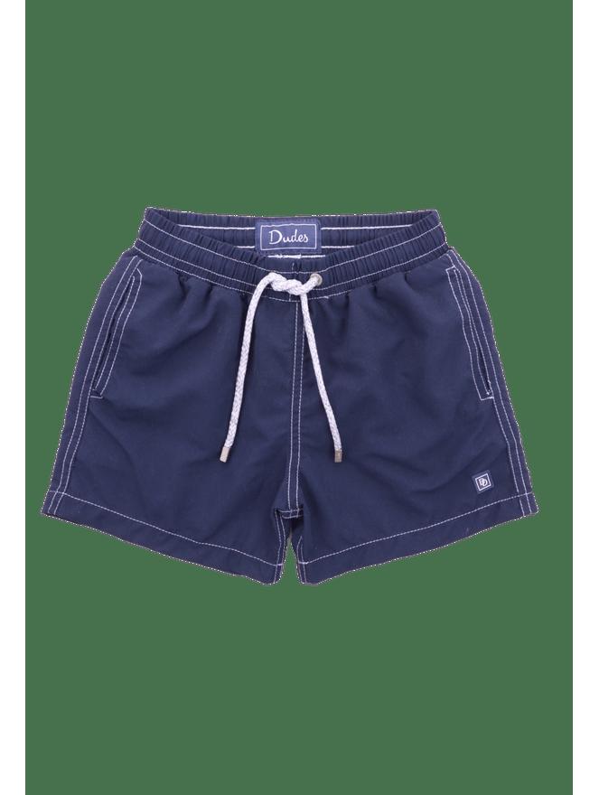 Short-Nylon-Kids-Azul