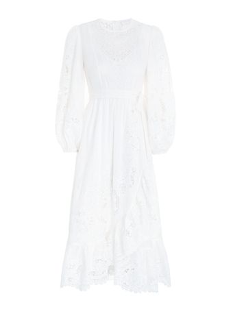 VESTIDO-LULU-SCALLOP-FRILL-DRESS-IVORY
