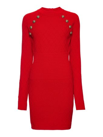 VESTIDOCURTO-SHORT-BUTTON-DETAILED-DIAMO-ROUGE