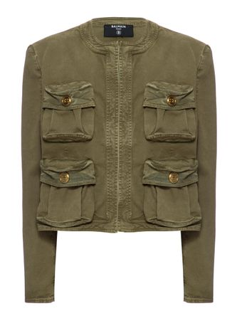 BLAZER-COLLARLESS-CARGO-POCKET-DENIM-JA-KHAKI