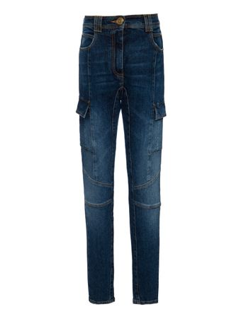 CALCA-HIGH-WAIST-PANELED-SKINNY-JEANS-RAW-DENIN-BLUE