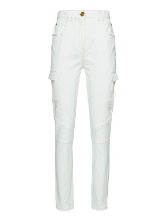 CALCA-HIGH-WAIST-PANELED-SKINNY-JEANS-0FA-WHITE