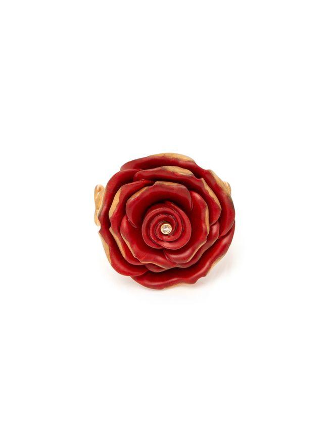 Pulseira-Rosa-Vermelha-em-Madeira