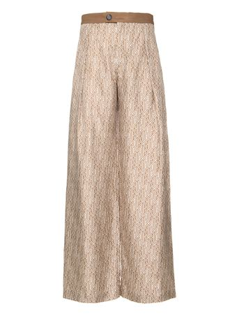 CALCA-TROUSERS-PALM-BROWN