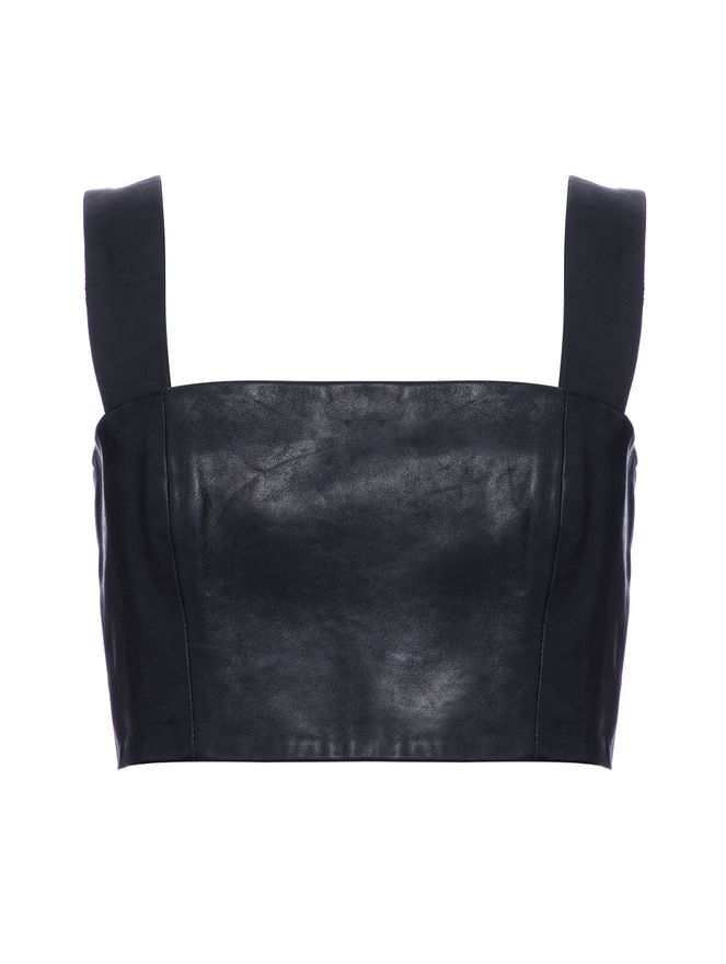 BLUSA-LEATHER-BRA-TOP-0PA-BLACK