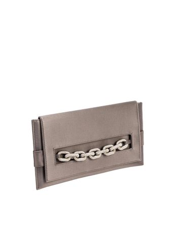 Bolsa-Catena-Envelope-Clutch-Silver