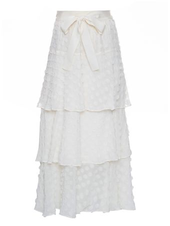 Saia-Textured-Dot-Skirt