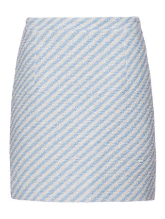 SAIA-LONGA-STRIPPED-COTTON-BLEND-TWEED-M-LIGHT-BLUE