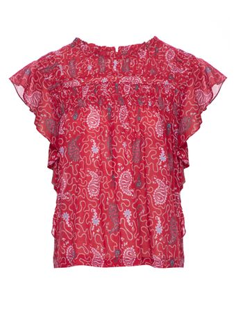 BLUSA-HAUT---TOP-RED