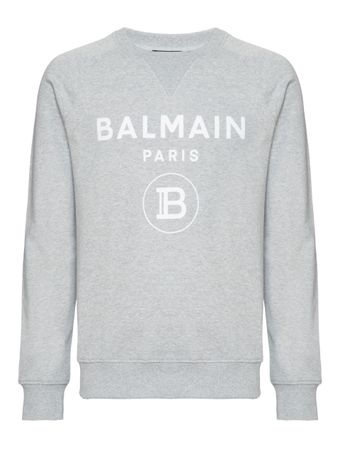 SUETER-BALMAIN-FLOCK-SWEATSHIRT-HEATHER-GRAY