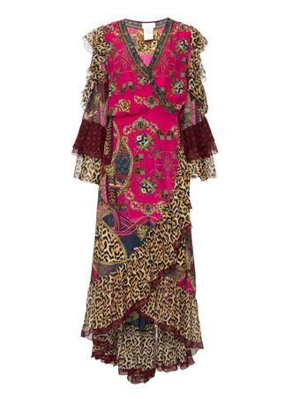 Vestido-Longo-Ruffle-Sleeve-Estampado