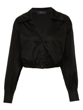 Camisa-Cropped-Tricoline-Preta