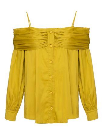 Camisa-Tricoline-Amarela