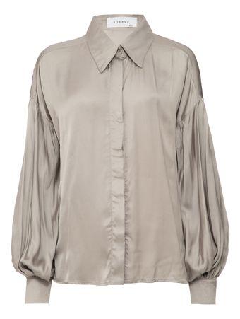 Camisa-Cetim-Cinza