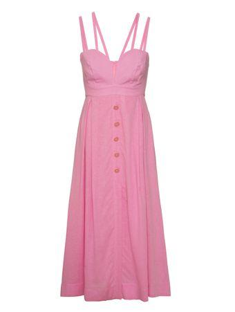Vestido-Linho-Midi-Rosa