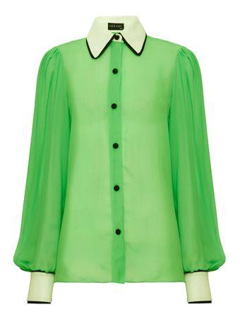 Camisa-Georgete-Verde