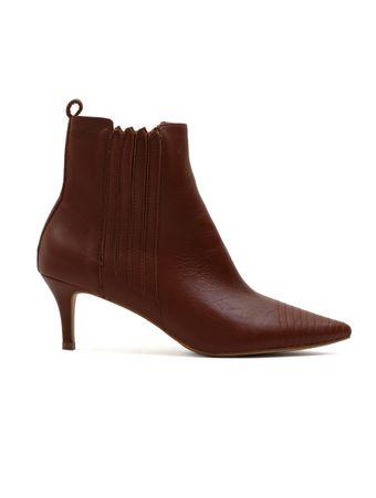 Ankle-Boot-Pesponto-Marrom