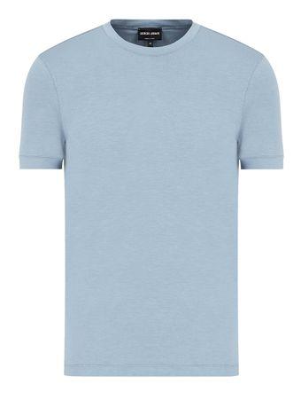 Camiseta-Manga-Curta-Azul