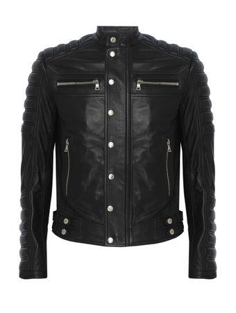 Jaqueta-Embossed-Leather-Biker-Preta