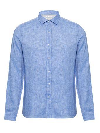 Camisa-de-Linho-Azul